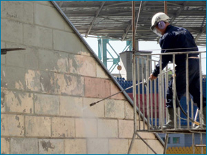 очистка фасадов от пыли и грязи