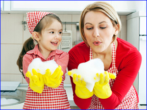 уборка дома с ребенком