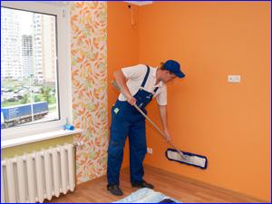 Мы делаем чистку стен и потолков от пыли