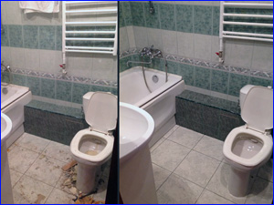 уборка санузла после ремонта туалета