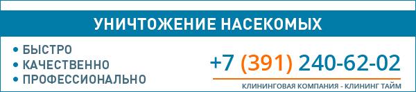 Уничтожение насекомых в Красноярске