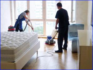 Уборка и клининг спальни в квартире