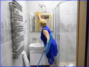 Уборка в ванной комнате и туалете