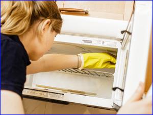 Чистка и мойка микроволновки на кухне