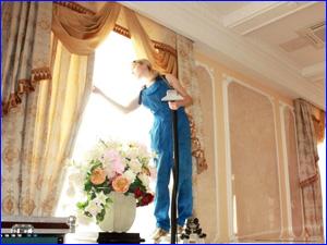 Химчистка штор на дому сотрудниками