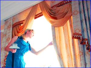 Стирка штор на дому клининговой компанией