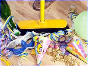 Уборка квартиры после праздника или вечеринки
