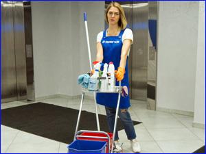Клинер и профессиональное оборудование для уборки офиса